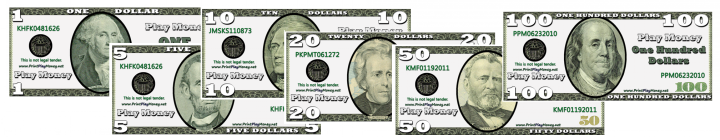 graphic about Printable Play Money $1 identify Participate in Dollars Templates